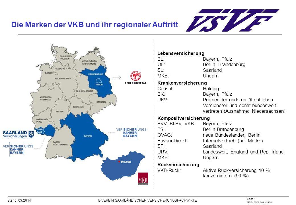 Die Marken der VKB und ihr regionaler Auftritt