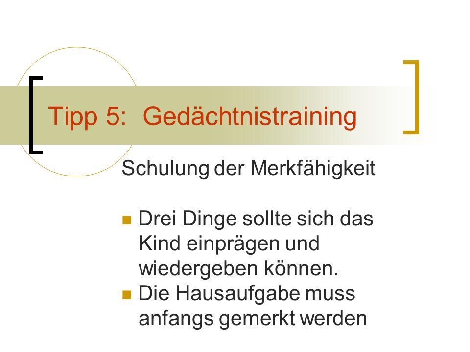 Tipp 5: Gedächtnistraining