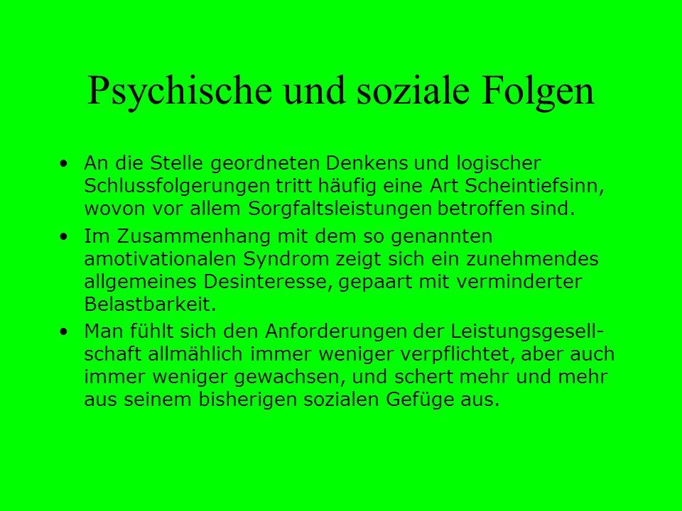 Psychische und soziale Folgen