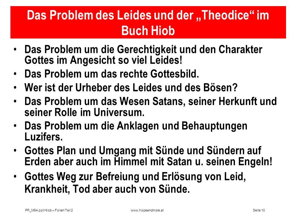"""Das Problem des Leides und der """"Theodice im Buch Hiob"""