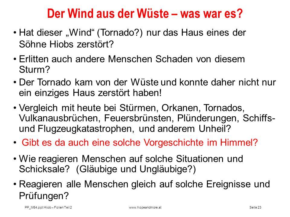 Der Wind aus der Wüste – was war es