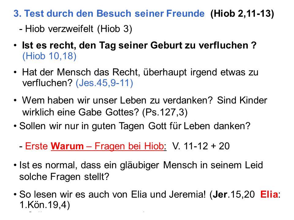 3. Test durch den Besuch seiner Freunde (Hiob 2,11-13)
