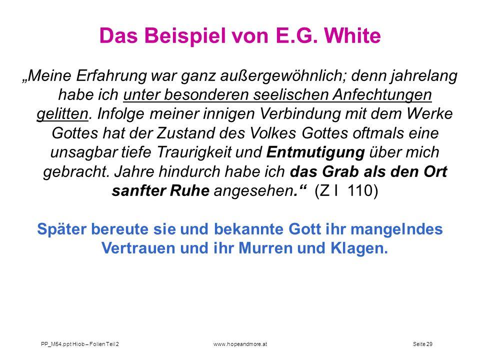Das Beispiel von E.G. White