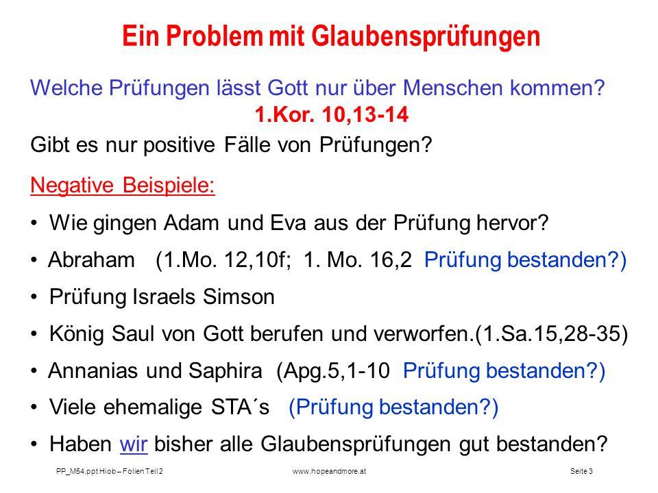 Ein Problem mit Glaubensprüfungen
