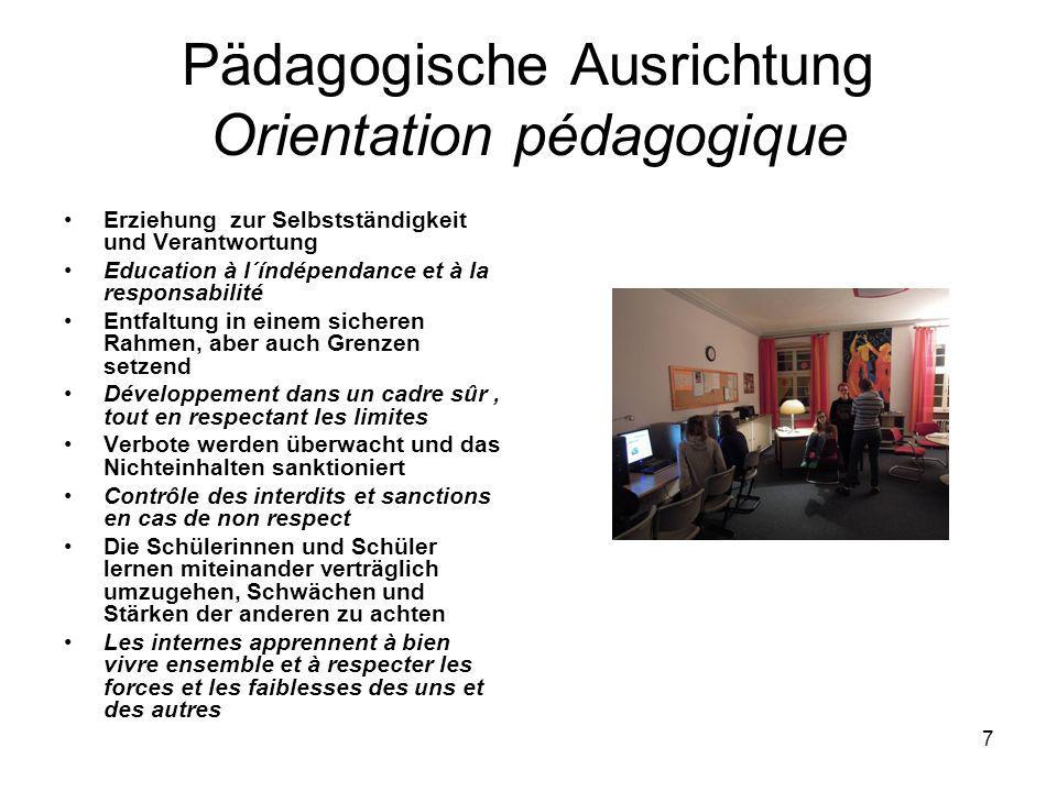 Pädagogische Ausrichtung Orientation pédagogique
