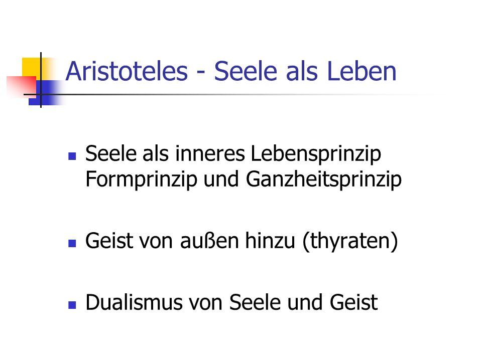 Aristoteles - Seele als Leben