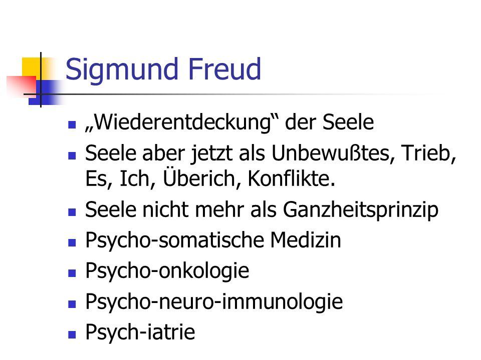 """Sigmund Freud """"Wiederentdeckung der Seele"""