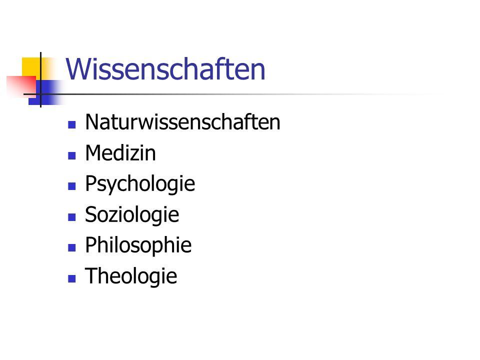 Wissenschaften Naturwissenschaften Medizin Psychologie Soziologie