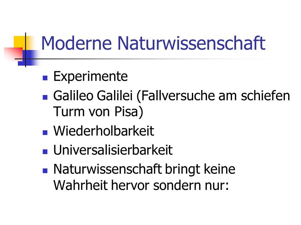 Moderne Naturwissenschaft