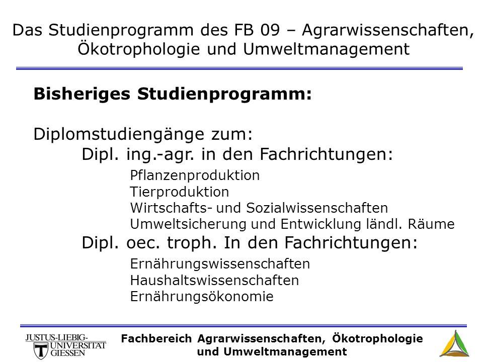 Fachbereich Agrarwissenschaften, Ökotrophologie