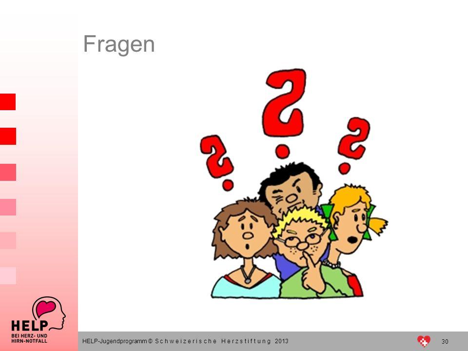 Fragen HELP-Jugendprogramm © S c h w e i z e r i s c h e H e r z s t i f t u n g 2013