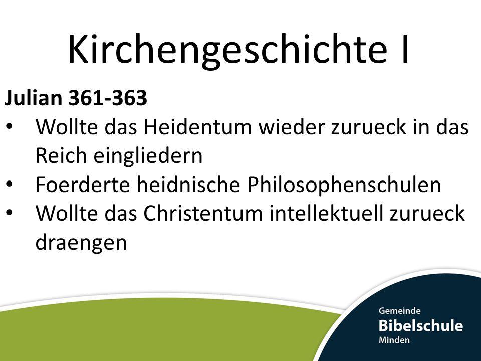 Kirchengeschichte I Julian 361-363
