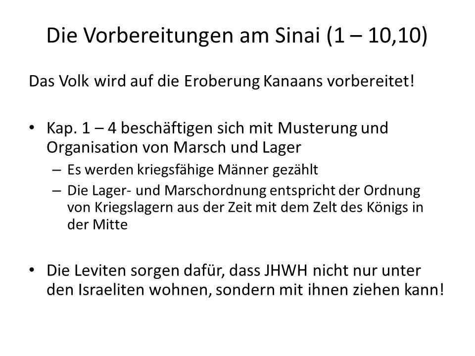 Die Vorbereitungen am Sinai (1 – 10,10)
