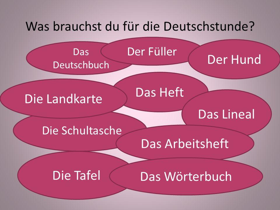 Was brauchst du für die Deutschstunde
