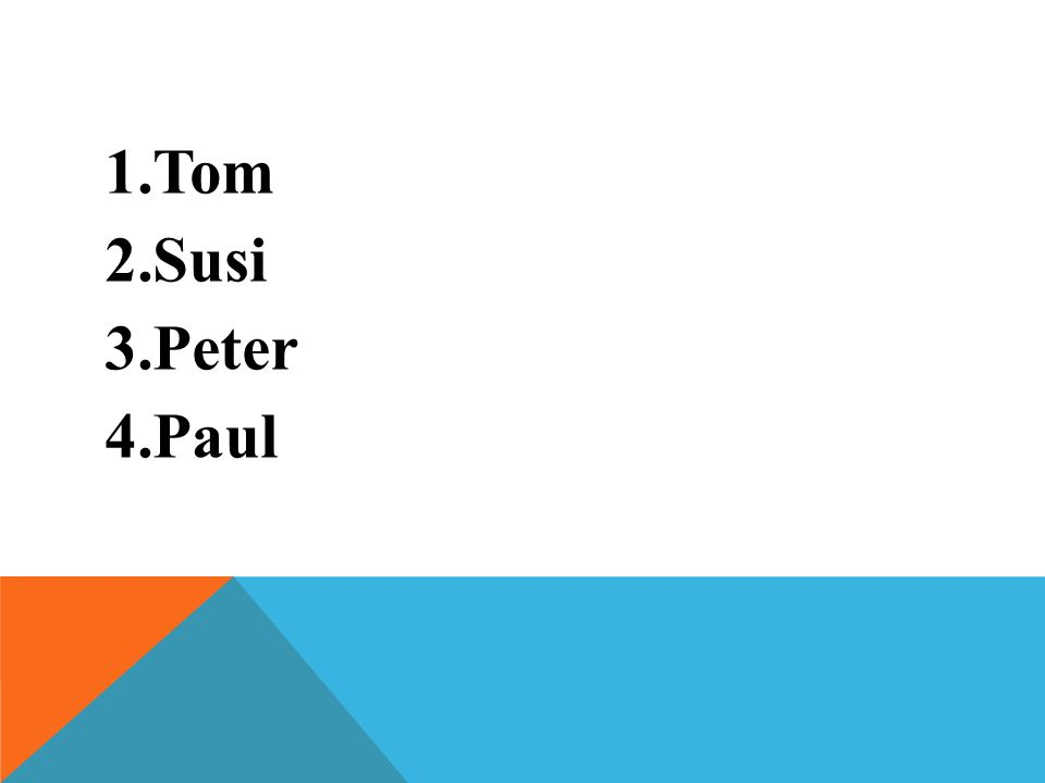 Tom Susi Peter Paul