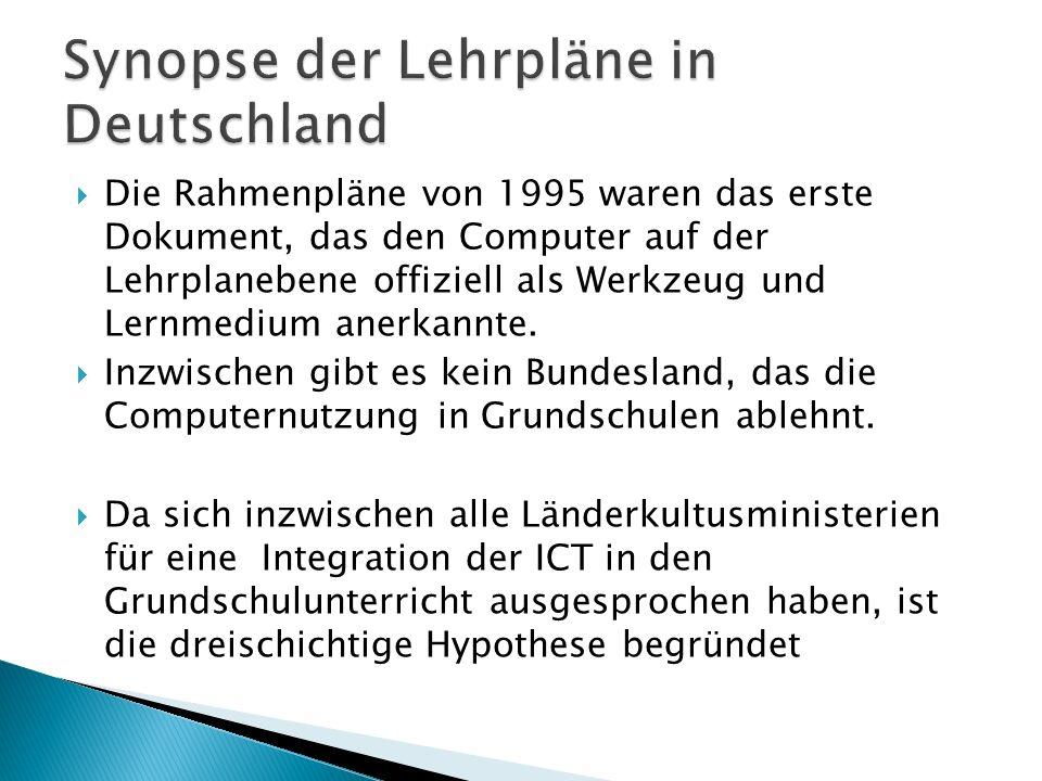 Synopse der Lehrpläne in Deutschland