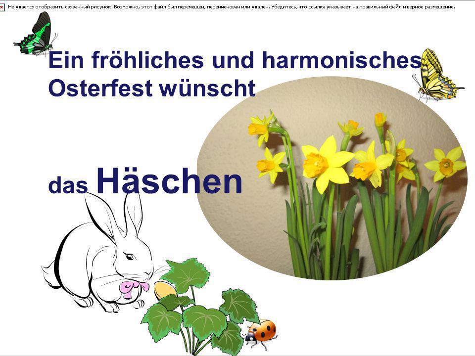 Ein fröhliches und harmonisches Osterfest wünscht