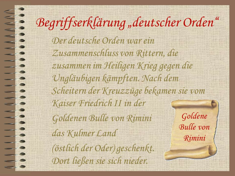 """Begriffserklärung """"deutscher Orden"""