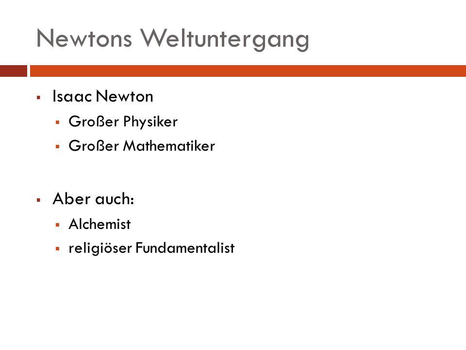 Newtons Weltuntergang