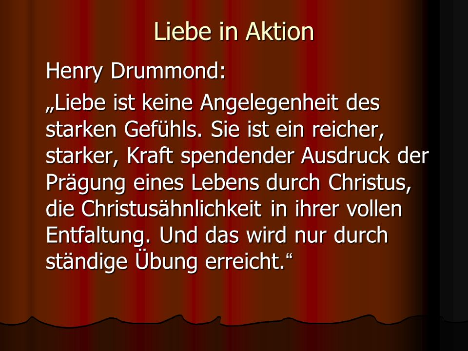 Liebe in Aktion Henry Drummond: