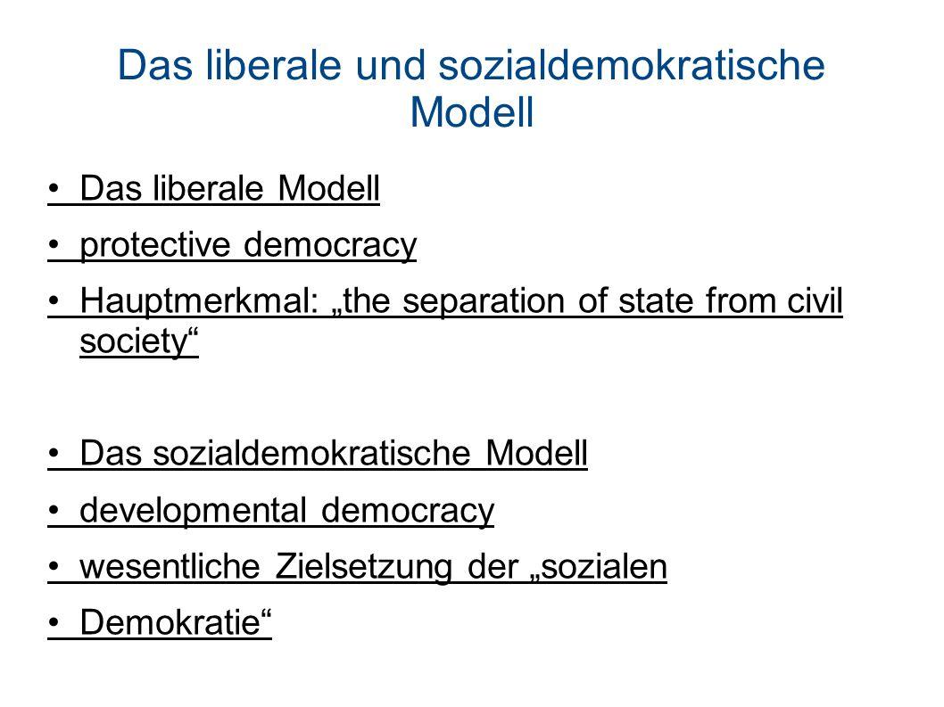 Das liberale und sozialdemokratische Modell