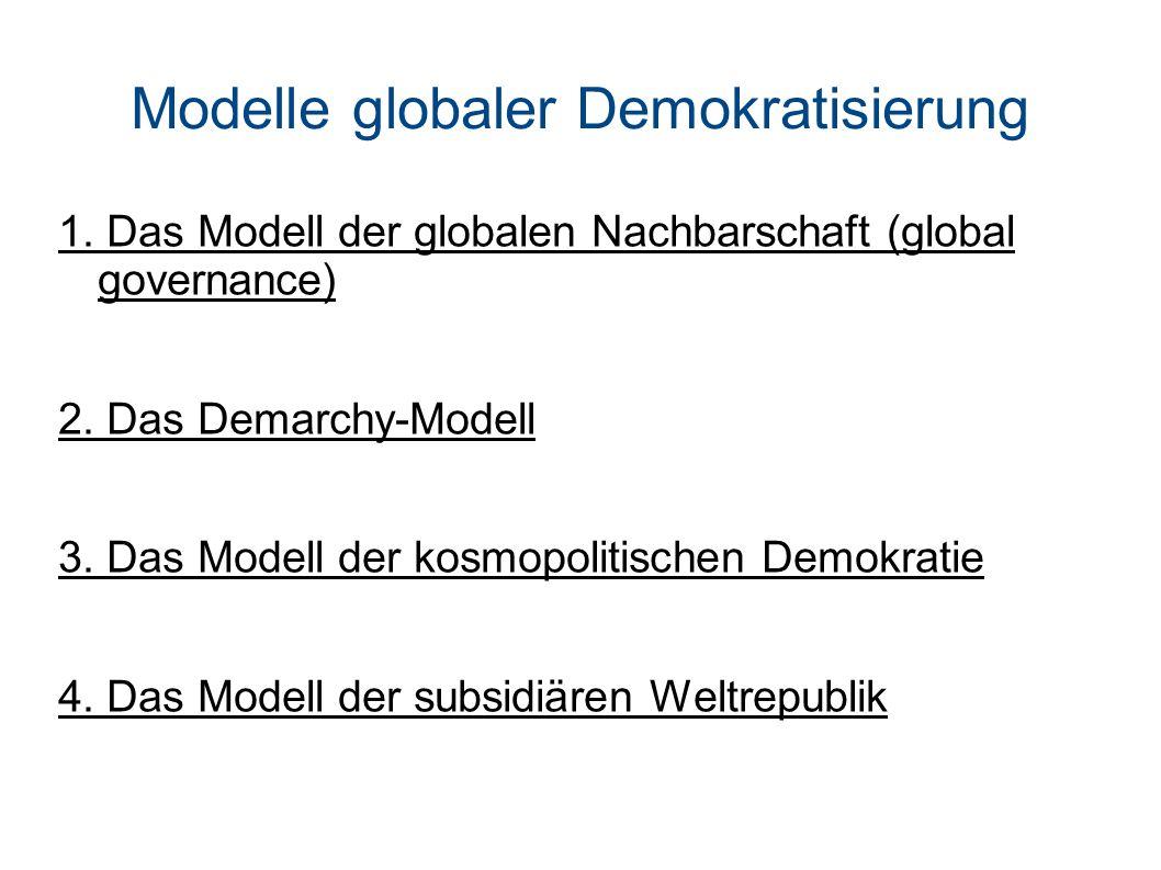 Modelle globaler Demokratisierung