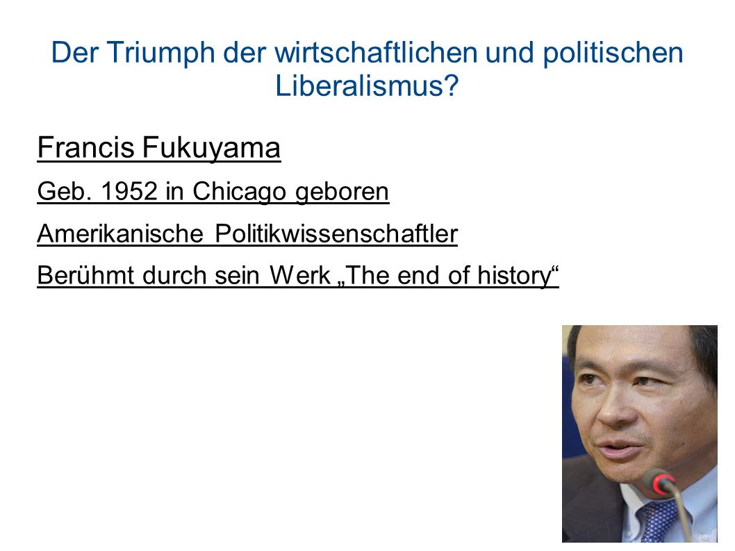 Der Triumph der wirtschaftlichen und politischen Liberalismus