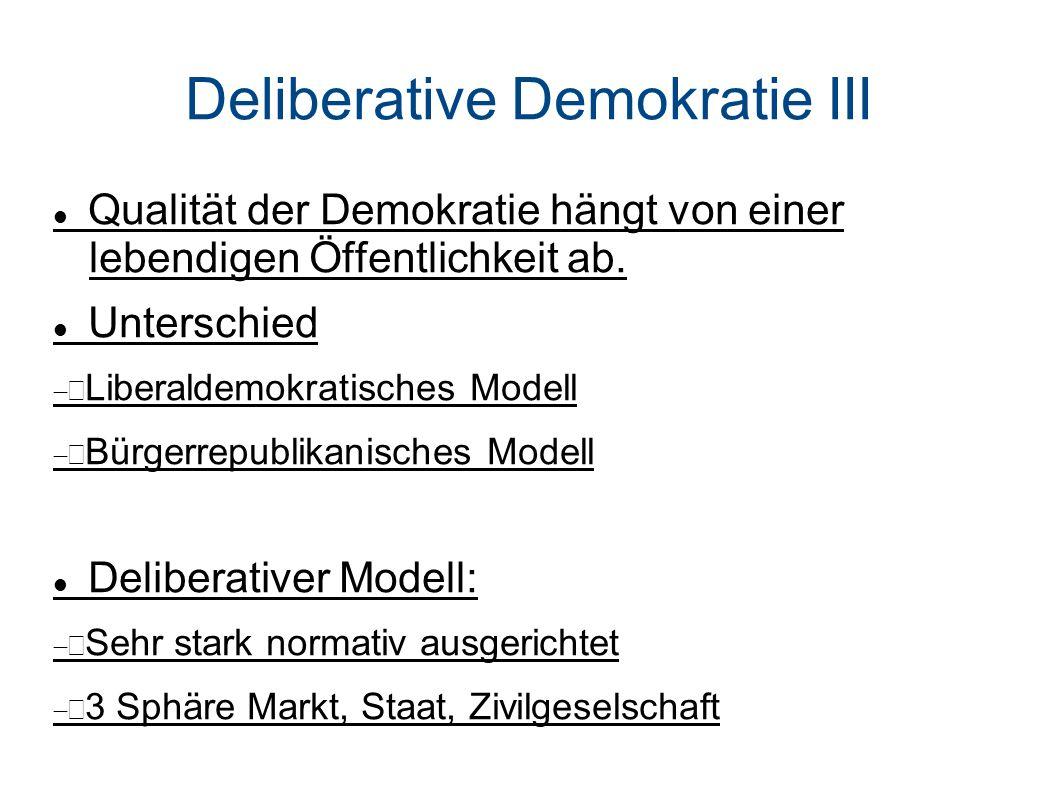 Deliberative Demokratie III