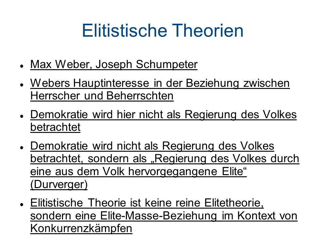 Elitistische Theorien