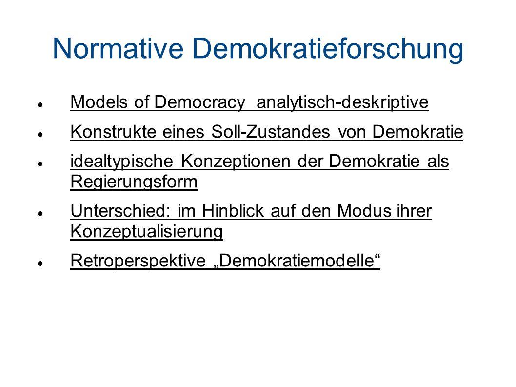 Normative Demokratieforschung