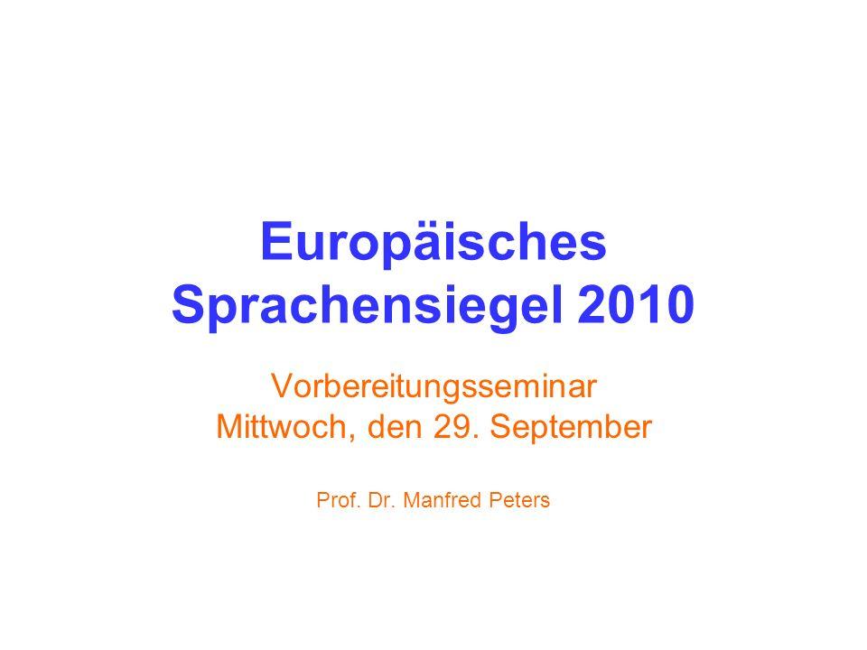 Europäisches Sprachensiegel 2010
