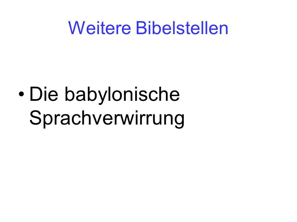 Die babylonische Sprachverwirrung