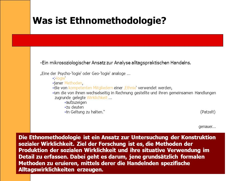 Was ist Ethnomethodologie