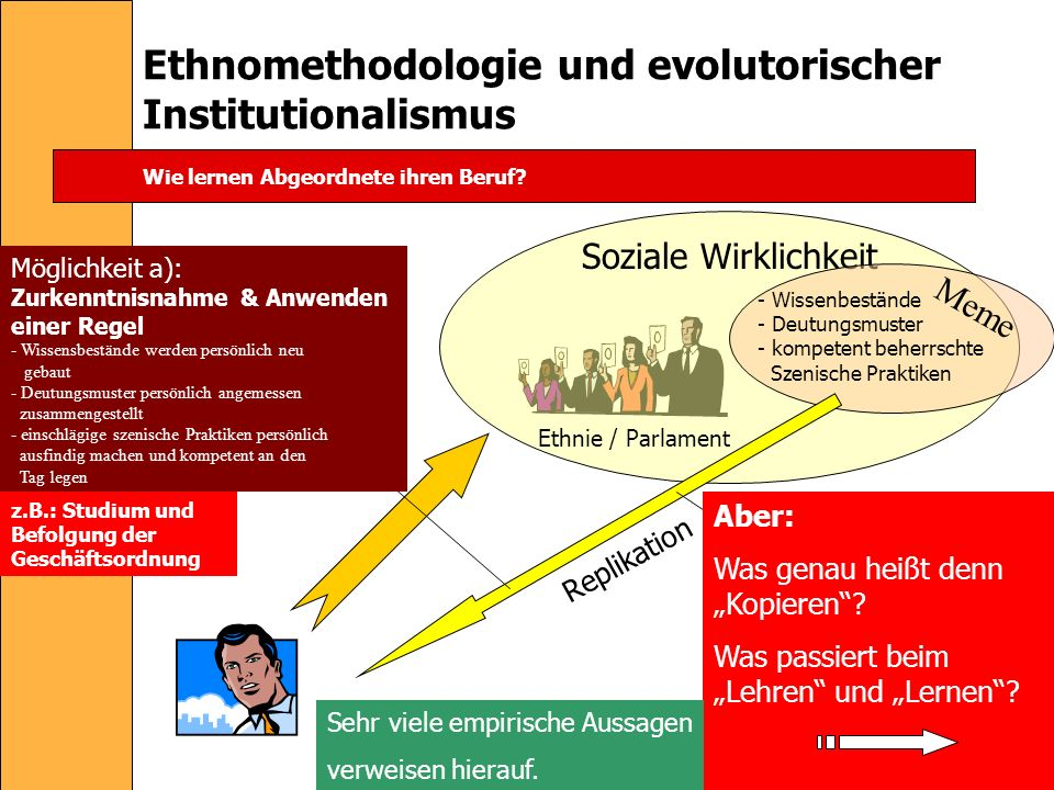 Ethnomethodologie und evolutorischer Institutionalismus
