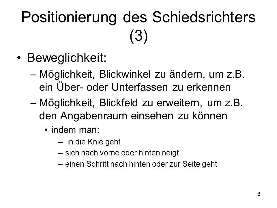 Positionierung des Schiedsrichters (3)