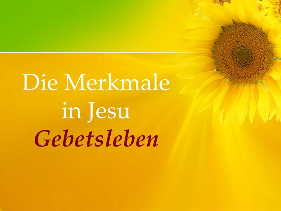 Die Merkmale in Jesu Gebetsleben