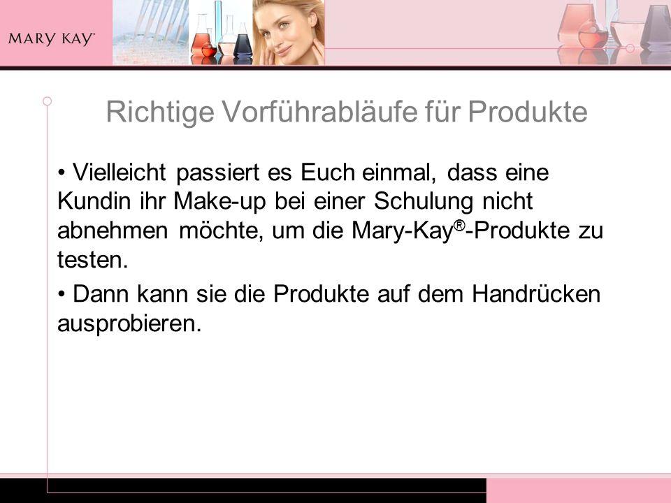 Richtige Vorführabläufe für Produkte