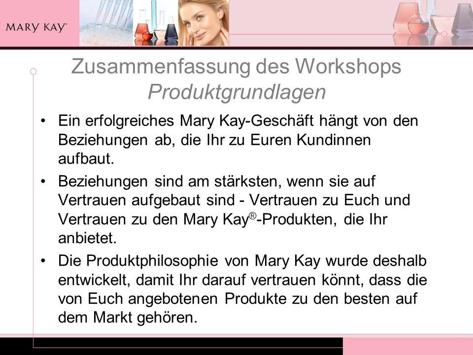 Zusammenfassung des Workshops Produktgrundlagen