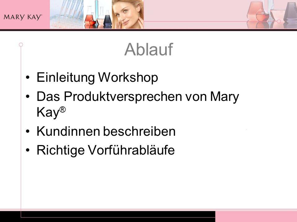 Ablauf Einleitung Workshop Das Produktversprechen von Mary Kay®