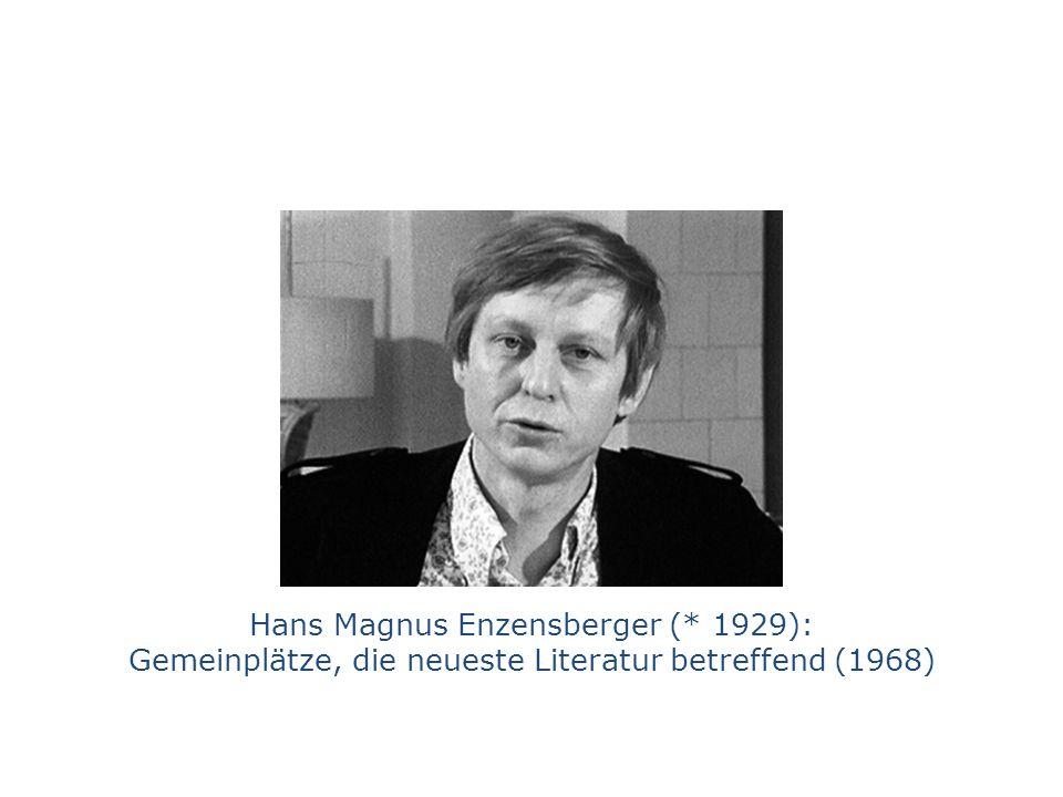 Hans Magnus Enzensberger (