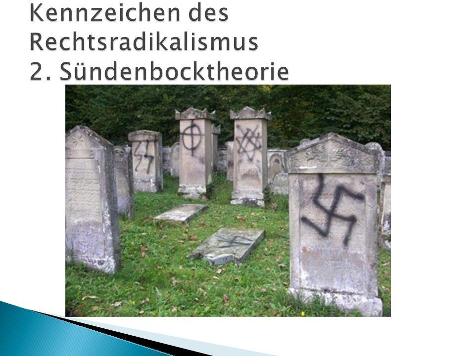 Kennzeichen des Rechtsradikalismus 2. Sündenbocktheorie