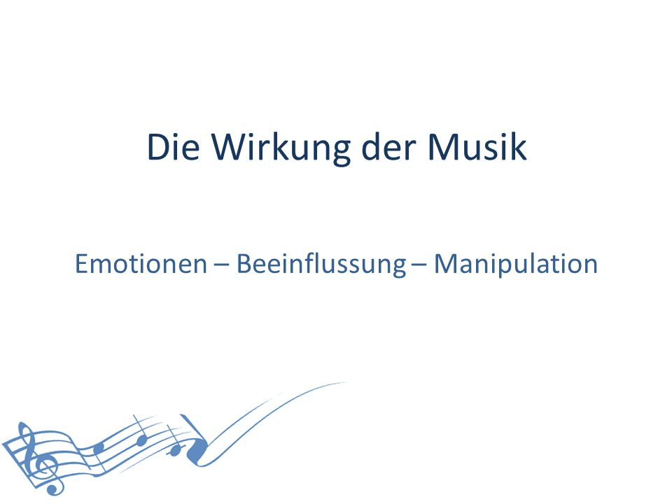 Emotionen – Beeinflussung – Manipulation