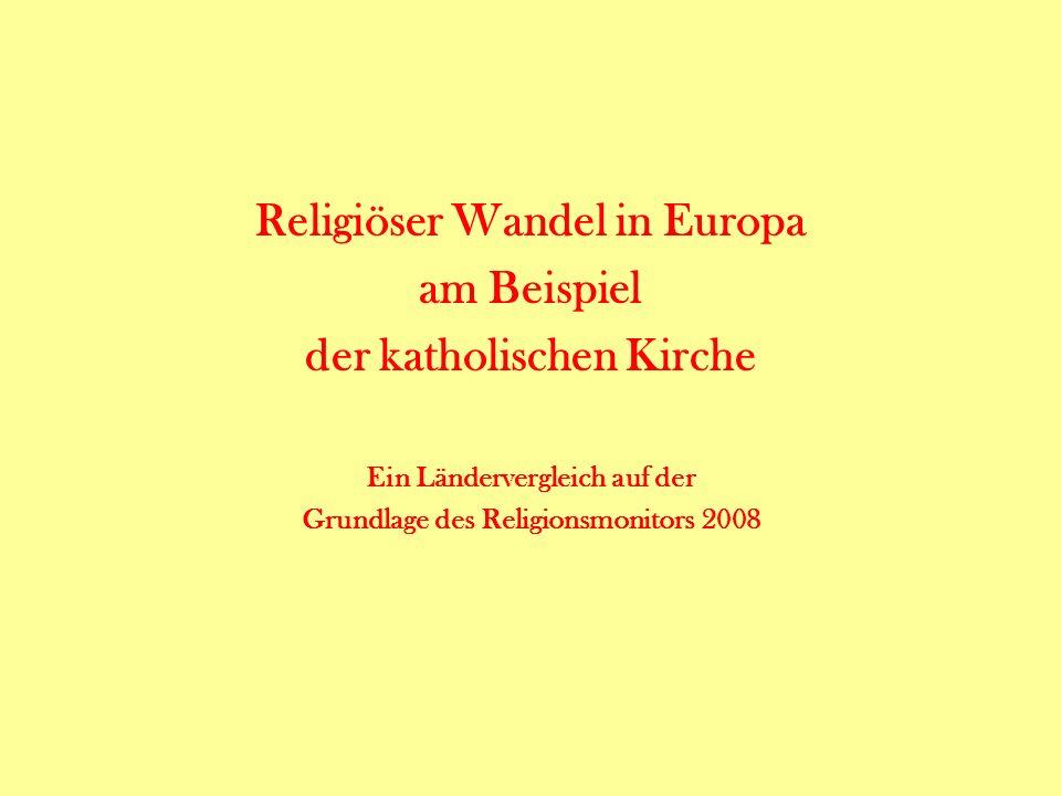 Religiöser Wandel in Europa am Beispiel der katholischen Kirche