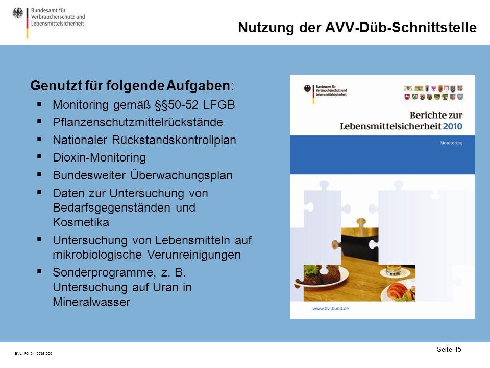 Wechsel von AVV Düb zu AVV DatA (I)