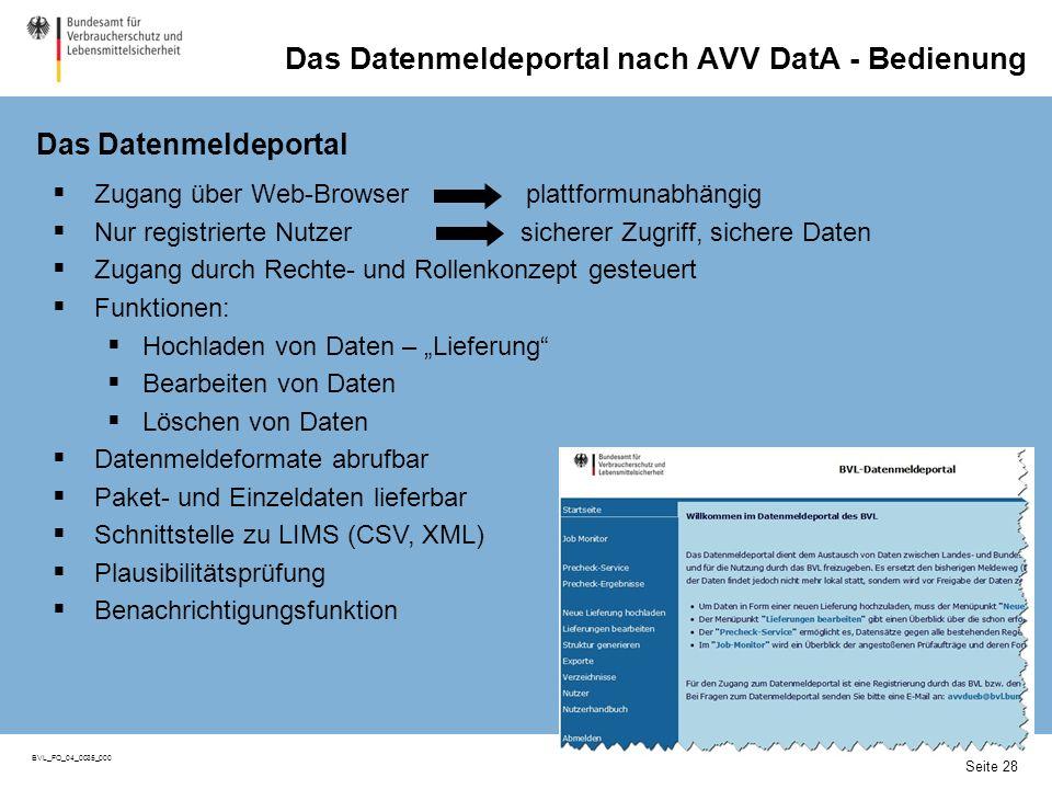 Datenmeldeportal: Ablauf eines Meldevorgangs