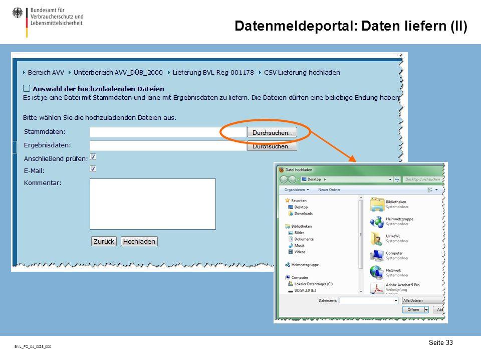 Datenmeldeportal: Lieferungen bearbeiten (I)