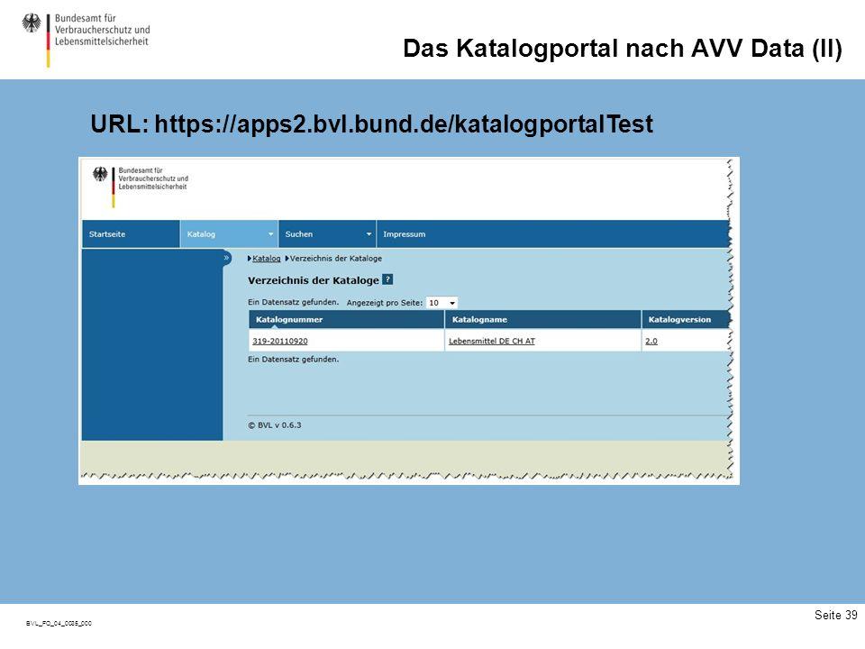 Das Katalogportal nach AVV DatA (III)