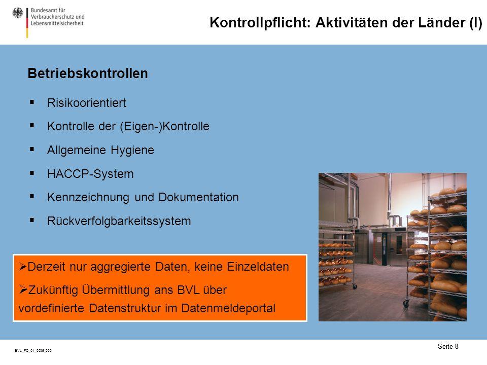 Kontrollpflicht: Aktivitäten der Länder (II)
