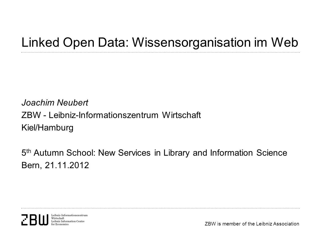 Linked Open Data: Wissensorganisation im Web