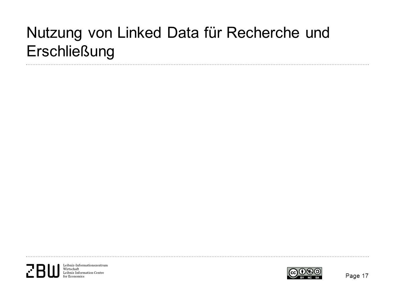 Nutzung von Linked Data für Recherche und Erschließung